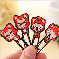 Wholesale 25 mm Cute Cartoon Fox Paperclips Bookmarkers Portable Card Clips Office Supplies SH164