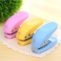 Wholesale 62 mm Lovely Color MINI Craft Punch Cute Single Hole Binding Punch Filing Supplies SH165