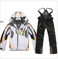 Wholesale sportswear spyderco Skiing Wears Skiing Suits sppidder men skiing jackets and pants waterproof Manner Ski Jacken