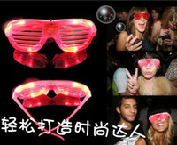 Wholesale light up shutter shades Flashing glasses led toy toys glow products wedding decoration christmas