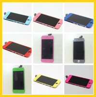 For Apple iPhone   20PCS 10 colors Complete Screen with LCD Display & Touch Digitizer Full Assembly Replacement for iPhone 5 5G