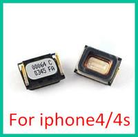 Wholesale 100pcs DHL Earpiece Ear Piece Speaker cell phone handsets Replacement Parts Fix Repair For iphone S