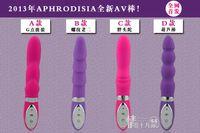 Female G-Spot Vibrators Silicone 2013 Hot sell free shipping G-spot Stimulation AV Vibrator,Female Masturbation Clitoris Squirt Vibe,Sex Toys,Adult Products