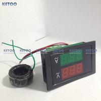 Wholesale AC100 V AC A Led volt amp meter voltage meter current meter ampere panel meter voltmeter ammeter digital B0035