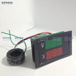 Wholesale AC100 V AC A Led volt amp meter voltage meter current meter ampere panel meter voltmeter ammeter digital B0035