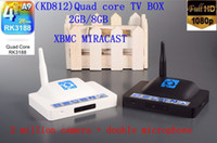 Wholesale New TV BOX KD812 Android TV BOX GB DDR3 GB ROM With Bluetooth Build in Front Camera MP RK3188 Quad Core