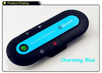 Wholesale New Wireless Bluetooth Handsfree Speakerphone Car Kit With Car Charger Bluetooth Hands free Kit