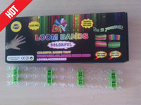 Wholesale Fashion Rainbow Loom DIY Bracelets Silicone Loom Bands Bands S or C Clips Plastic Hook Bracelets Kit Jewelry Tools Christmas Gift