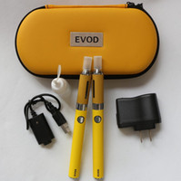 Electronic Cigarette Set Series  Newest MT3 EVOD Double Ego Starter E-cig Kits E-Cigarette evod Zipper Case 2 clearomizer Atomizers 2 Electronic Cigarette batteries 50PCS