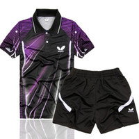 Wholesale New butterfly Mens Badminton Table Tennis clothes Polo Shirt shorts color