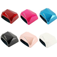 Wholesale Six Colors Choose One Color UV Lamp W V Gel Curing Nail Art EU Plug Diamond Nail Dryer with W CCFL W Power LED