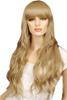 Wholesale 80cm Flax Golden Mixed Nylon Curly Cosplay Wig For Women real sex doll u6 nX6