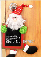 Wholesale Santa Claus amp Snowman Promoting Blackboard Christmas door hangings Christmas decorations Christmas gifts s40