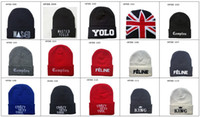 Wholesale Many Styles Hip Hop Streetwear Brands Beanies YOLO Beanies Basketball Beanies Sports Beanies Mens woollen hats Women Beanies Top Quality