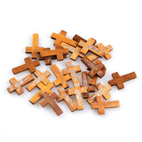 Wholesale 50g Mixed Wooden Sewing Buttons Christmas Light Brown Cross Type Craft Loose Beads Scrapbooking Holes Fit Clothes ZFI6
