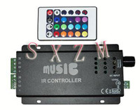 Wholesale Black Music LED Controller For RGB SMD LED Strip Lights
