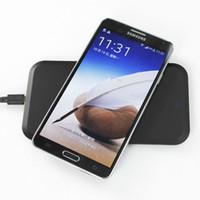 al por mayor almohadilla de carga inalámbrica qi negro-Qi Cargador sin hilos negro Qi cojín de carga sin hilos (MC-02A) + Qi receptor sin hilos (MC-Note3) Carga para la nota 3 2014 de la galaxia de Samsung Más nuevo