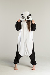 Wholesale Pajamas Cheap Funny Lovely Panda Cosplay Costume unisex Adult Onesie Dress Or Sleeping Home Dress