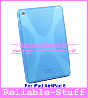 Wholesale Soft Anti Skid X Line Shape TPU Silicone Rubber Gel Case Cover Skin Shell for iPad Air iPadAir Wholesales IPAD5C01