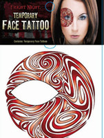 Wholesale Women girls Halloween Christmas facial tattoo sticker Stage Performing Arts makeup eye shadow stickers