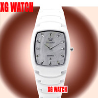 Wholesale Watch Fashion Brand Watches Luxury Watch Black Ceramic Square Quartz Crown Quality Wristwatch Leisure Style Christmas New Gift