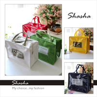 Wholesale Newest korean style good quality PU picnic lunch bag insulated cooler bags lunch box tote colors optional cm