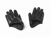 Wholesale 50pair Fan Bingbing Same Paragraph Half Section PU leather Gloves Party Dance Singer DS Hip Hop Jazz Nightclub Performance Accessories