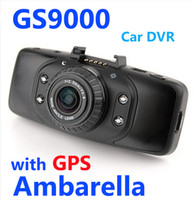 Wholesale GS9000 pro Car DVR video Recorder vehicle driving Camera Original Ambarella P Full HD LCD with GPS truck dash cam