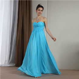 Fashion Cheap A-Line Sweetheart Sleeveless Ruffle Floor Length Evening Dresses Prom Dresses Chiffon