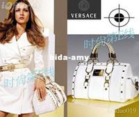 Wholesale Fashion White Tote bag Handbag Bag Purse With Gold Hardware
