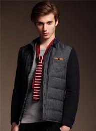Wholesale New Fashion Men s Winter Down Coats Warm Outwear Collar Casual Slim fit Jacket