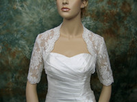 Lace Jacket Short Sleeves Hot New Arrival !!Sexy Custom Made Lace Jacket For Beauty Bridal Jackets With Short Sleeve DH4810