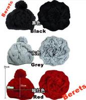 Wholesale Autumn and winter warm warm pumpkin hat woolen hat knitted hat Buds cap berets
