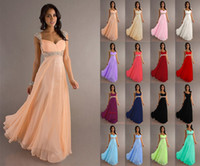 Wholesale Low Price In Stock A Line Chiffon Evening Dress Formal Gown Off Shoulder Beaded Sequins Sashes Pleat Floor Length Bandage Lace Up Back Sexy