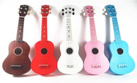 Wholesale top quality colorful quot Ukulele with pick and bag