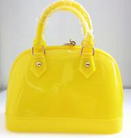 Wholesale Medium size Factory Price new designer Candy Colors Shell Padlock Boston tote silicone Bag Purse women Handbags DHL free Ship