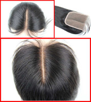 Wholesale unprocessed Remy Virgin Hair Top Closure silk straight Natural Color Top Lace Front Closure x4 inch