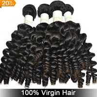 Wholesale A A Malaysian Peruvian Indian Eurasian virgin human hair Bundles Baby Curly bundles soft Smooth Natural Hair Extension