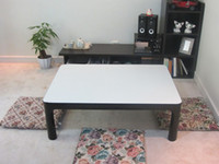 antique white coffee table - Japanese Warm Table KOTATSU Reversible Top Black White Rectangle cm Extended Legs Home Living Room Foot Warmer Heated Low Coffee Table