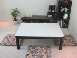 Wholesale Japanese Warm Table KOTATSU Reversible Top Black White Rectangle cm Extended Legs Home Living Room Foot Warmer Heated Low Coffee Table