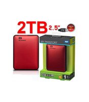 Wholesale NEW cheap TB USB amp Portable External Hard Disk Drive GB HD Red DHL Frre Shipping