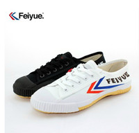 Wholesale Feiyue Ultra light canvas sneaker shoes for Men and Women for Kung fu martial arts and casual sport Classic black and White