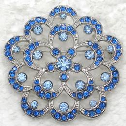 Wholesale Crystal Rhinestone Bridesmaid Wedding Party Brooches Girl Flower Pin Brooch fashion Apparel pins C811