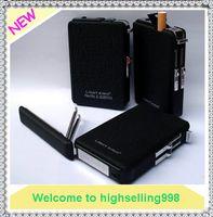 Wholesale New Arrival Multi Function Windproof Metal Automatic Magic Cigarette Lighter Case Storage Box Holde Smoke Black
