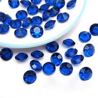 al por mayor cristales de acrílico azul-Número de seguimiento-500pcs 10mm (4 quilates) de la boda de cristal acrílico Azul marino Faux del confeti del diamante dispersión de la tabla favores de partido de la decoración
