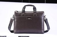 Wholesale Brown Designer Business Briefcases Exquisite Luxury Shoulder Bags with Cclub Superior PU Leather Dismountable Strap Design Hot Sale C