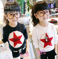 Wholesale Hot Sale New Children s T shirts Sweatshirts Kids Blouse Clothes Star Letter Pattern TEE Pullover Long Sleeve Tshirt