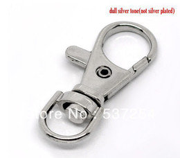 Free Shipping 100pcs Silver Tone Lobster Swivel Clasps for Key Ring 37x16mm Jewelry Findings Wholesales
