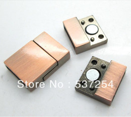 Free shipping new alloy wire drawing process 10 sets of restoring ancient ways magnetic buckle 20 mm x 15 mm