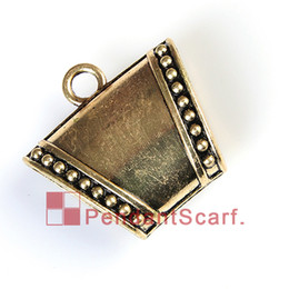 12PCS LOT Hot Sale Fashion DIY Jewelry Pendant Scarf Findings Antique Bronze Mental Alloy Smooth Slide Bails Charm, Free Shipping, AC0242B